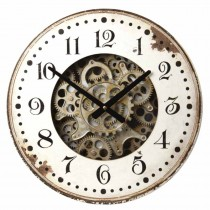 WOODEN CLOCK WITH GEARS