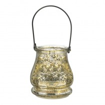 Mottled Silver Glass Jar
