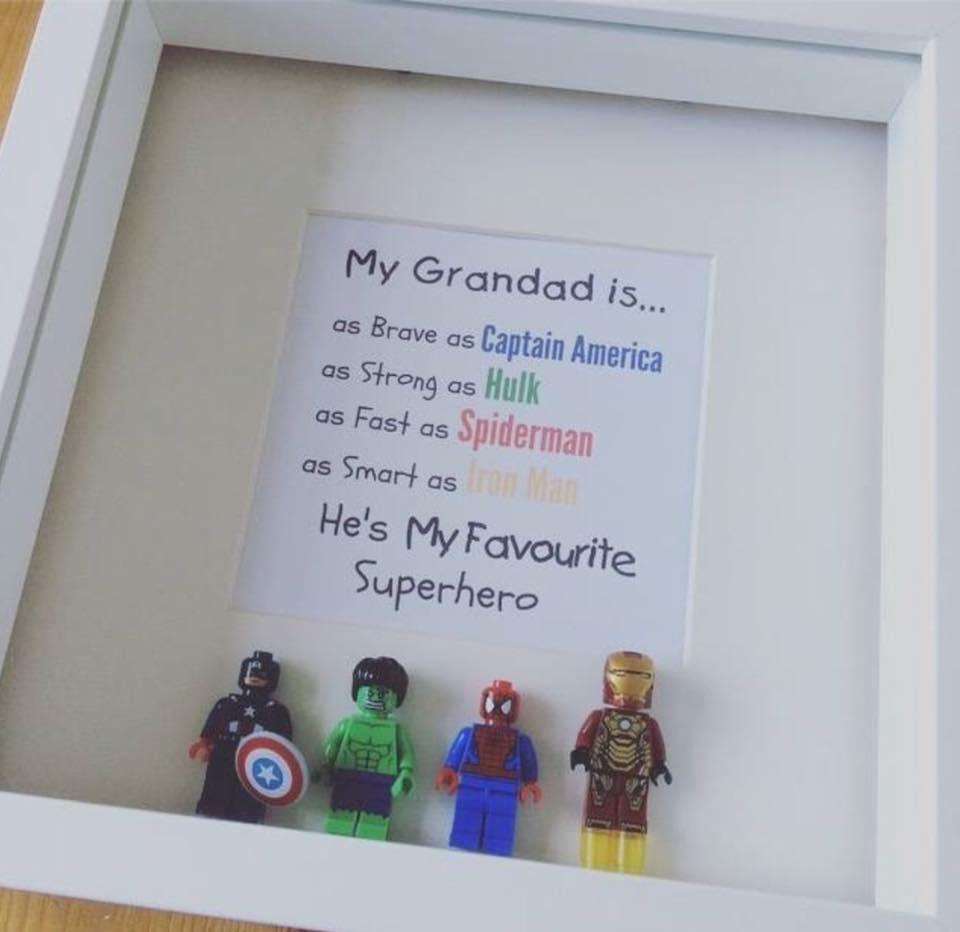 Marvel Custom Lego Frame
